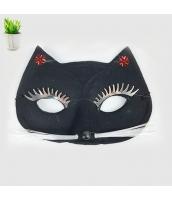 コスプレ小道具 布製猫マスク 黒 大人/子供共通 qx10051-3