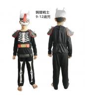 コスチューム 髑髏戦士 9-12歳児 マスク+トップス+パンツ(武器含まず) 3点セット qx10055-3