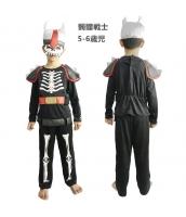 コスチューム 髑髏戦士 5-6歳児 マスク+トップス+パンツ(武器含まず) 3点セット qx10055-4