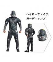 ヘイローファイブ:ガーディアンズ コスチューム グレー Halo5:Guardian 筋肉ジャンプスーツ+ヘルメット 2点セット qx10059-3