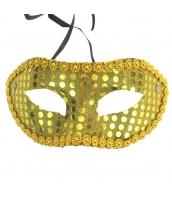 コスプレ小道具 アイマスク 金色 スパンコール qx10061-19