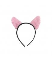 コスプレ小道具 カチューシャ 猫耳 ピンク qx10062-1