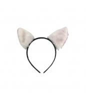 コスプレ小道具 カチューシャ 猫耳 ホワイト qx10062-2