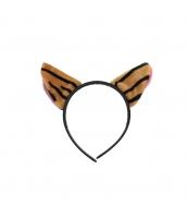 コスプレ小道具 カチューシャ 猫耳 タイガー qx10062-5