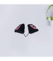 コスプレ小道具 ヘアクリップ 猫耳 ブラック qx10062-9