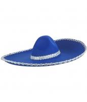 メキシコ コスプレ小道具 帽子 ブルー qx10063-10