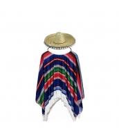 メキシコ コスチューム 衣装 ブルー 子供用 qx10063-12