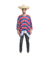 メキシコ コスチューム 衣装 赤/藍ボーダー qx10063-15