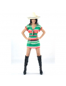 メキシコ コスチューム 衣装 グリーン トップス+帽子 2点セット qx10088-17
