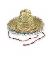 メキシコ コスプレ小道具 帽子 イエロー ストローハット 子供用 qx10088-15