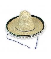 メキシコ コスプレ小道具 帽子 Lサイズ ストローハット qx10063-4
