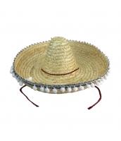 メキシコ コスプレ小道具 帽子 XLサイズ ストローハット qx10063-5