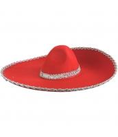 メキシコ コスプレ小道具 帽子 レッド qx10063-9