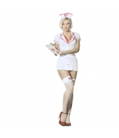 コスチューム 女医者 ドクター 帽子+ドレス+病室巡回記録カード 3点セット qx10069-2