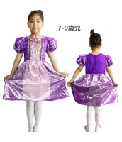 塔の上のラプンツェル コスチューム ドレス パープル 7-9歳児 qx10070-2