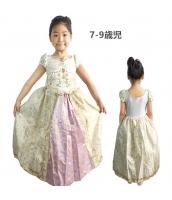 塔の上のラプンツェル コスチューム ドレス イエロー 7-9歳児 qx10070-5