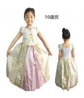 塔の上のラプンツェル コスチューム ドレス イエロー 10歳児 qx10070-6
