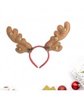 コスプレ小道具 カチューシャ ジングルベル ブラウン クリスマス 大人/子供共通 qx10072-10