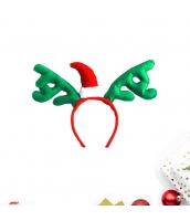 コスプレ小道具 カチューシャ サンタ帽子 グリーン クリスマス 大人/子供共通 qx10072-17