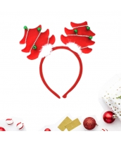 コスプレ小道具 カチューシャ クリスマスツリー レッド クリスマス 大人/子供共通 qx10072-2