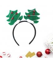 コスプレ小道具 カチューシャ クリスマスツリー グリーン クリスマス 大人/子供共通 qx10072-3