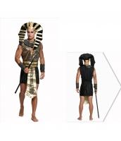 古代エジプト コスチューム スフィンクス戦士 ワンピース+スフィンクス帽子+ネックピース+ウエストバンド+アームカバーx2 6点セット qx10074-1