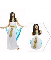 古代エジプト コスチューム エジプト女王 ヘッドバンド+トップス+ウエストバンド付きスカート+ネックピース 4点セット qx10074-14