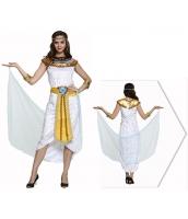 古代エジプト コスチューム エジプト女王 ヘッドピース+ネックピース+スカート+アームカバーx2+ウエストバンド 6点セット qx10074-19