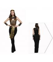 古代エジプト コスチューム クレオパトラ ドレス+ヘッドピース+ネックピース+ウエストバンド+アームカバーx2 6点セット qx10074-2