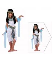古代エジプト コスチューム エジプト女王 7-10歳児 ドレス+帯+ヘッドピース+ウエストバンド 4点セット qx10074-9