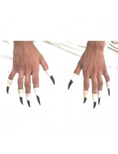 ハロウィン用品 小道具 バンパイア 爪 ブラック qx10086-8