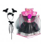 コスプレ小道具 蝙蝠ウィング+カチューシャ+棒+スカート 4点セット qx10087-11