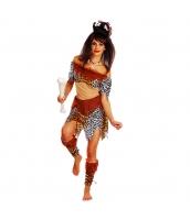 インディアン コスチューム 部族民 狩人 女 3点セット ワンピース+ブーツカバーx2 3点セット qx10090-13