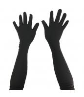 グローブ手袋 黒 ロング qx10103-4