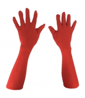 グローブ手袋 赤 ロング qx10103-5
