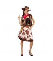 カウボーイ コスチューム スカート+帽子+ベスト+スカーフ 4点セット qx10095-2