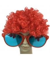 コスプレ小道具 レッド 大人/子供共通 色眼鏡+ウィッグ 2点セット qx10097-8