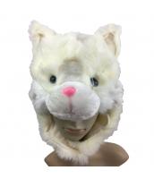 ディズニー 着ぐるみフード 白猫 大人/子供共通 qx10101-8