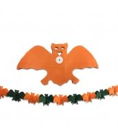 ハロウィン用品 小道具 飾り紙 ペーパーオーナメント オレンジ蝙蝠 qx10102-1