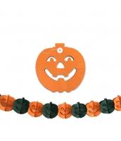 ハロウィン用品 小道具 飾り紙 ペーパーオーナメント オレンジパンプキン qx10102-3