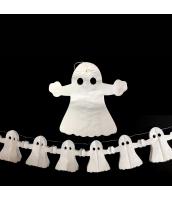ハロウィン用品 小道具 飾り紙 ペーパーオーナメント 白幽霊 qx10102-5