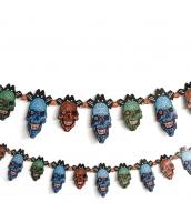 ハロウィン用品 小道具 飾り紙 ペーパーオーナメント 髑髏 qx10102-6