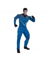Mr.ファンタステック/リード・リチャーズ ファンタスティックフォー コスチューム 筋肉ジャンプスーツ+マスク 2点セット qx10116-3