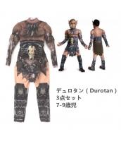 デュロタン(Durotan) WoW ワールドオブウォークラフト コスチューム 7-9歳児 ジャンプスーツ+フードマスク+胸装飾(武器含まず) 3点セット qx10122-13