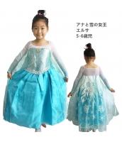 エルサ アナと雪の女王 コスチューム ドレス 5-6歳児 qx10123-13