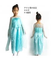 エルサ アナと雪の女王 コスチューム ドレス 4-6歳児 qx10123-18