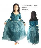 メリダ メリダとおそろしの森 Brave コスチューム ドレス 4-6歳児 qx10123-5