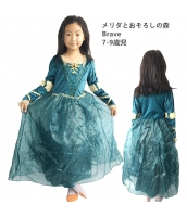 メリダ メリダとおそろしの森 Brave コスチューム ドレス 7-9歳児 qx10123-6