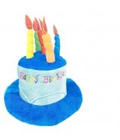 ピエロ 帽子 ブルーお誕生日 qx10127-16