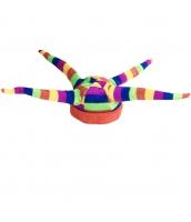 ピエロ 帽子 マルチカラー4つ角 qx10127-2